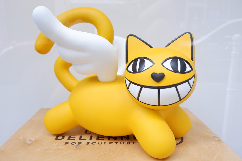 """Le clou de l'expo c'est un """"Baby Cat"""" en  3D dans sa caisse.... ET oui MChat, mais Chat toujours"""