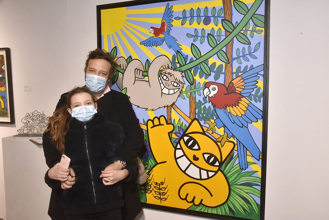 Point de salamalec mais des masks chez Brugier Rigail Jean Yves Salasca est venu avec   sa fille Marie