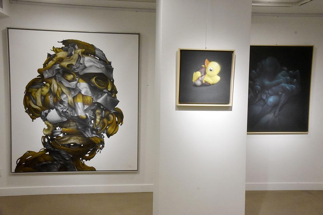 Ambiance  pendant Ma Thématiques Expo Bom.K à la Galerie Joël Knafo