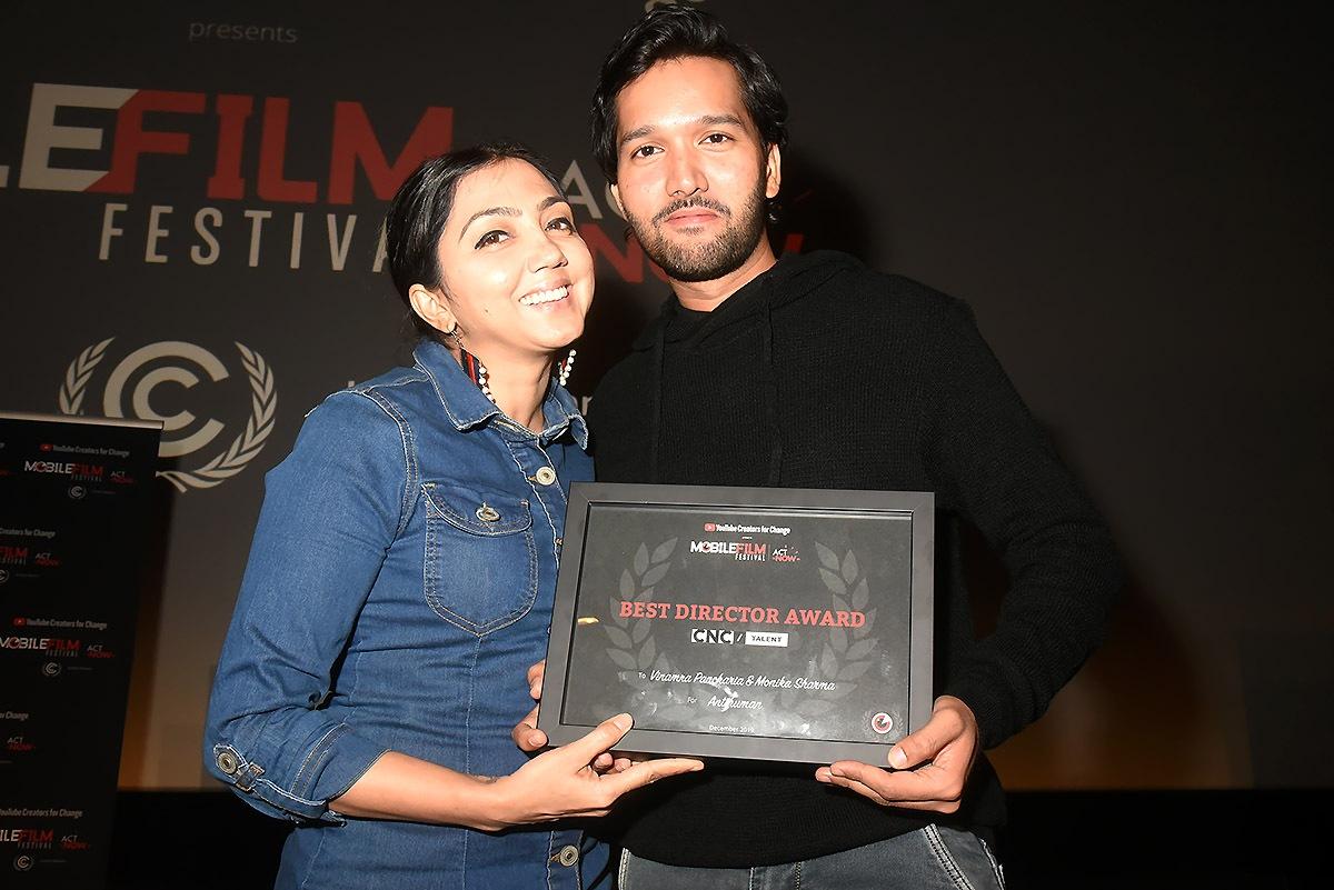 Mobile film 2019 best réalisateurs/entomologistes Monika Sharma And Vinamra Pancharia pour «Antihuman»