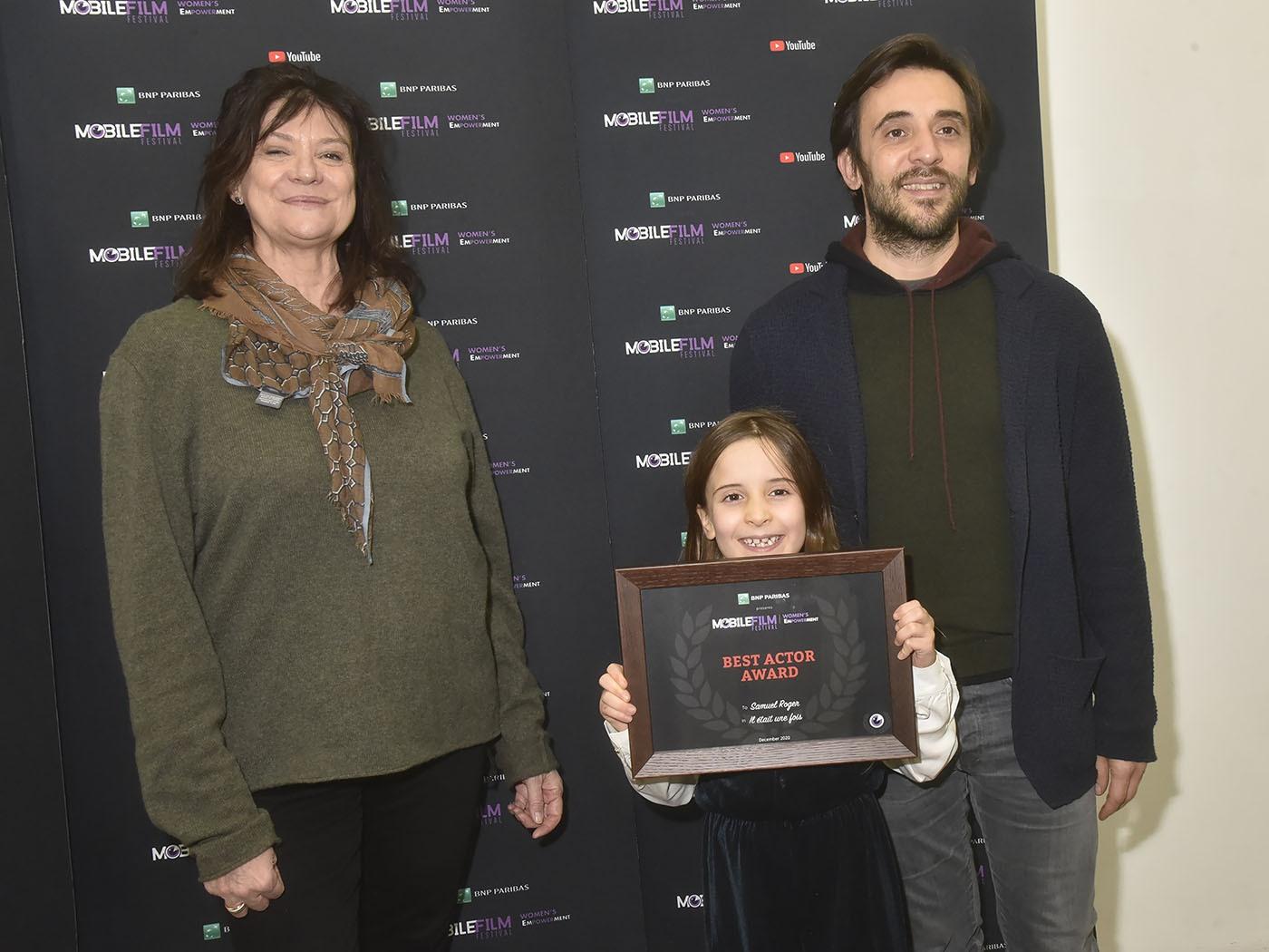 Anne Dominique Toussaint nous présente Samuel Roger et sa fille Mila les Best Actors du Mobile Film Festival 2020