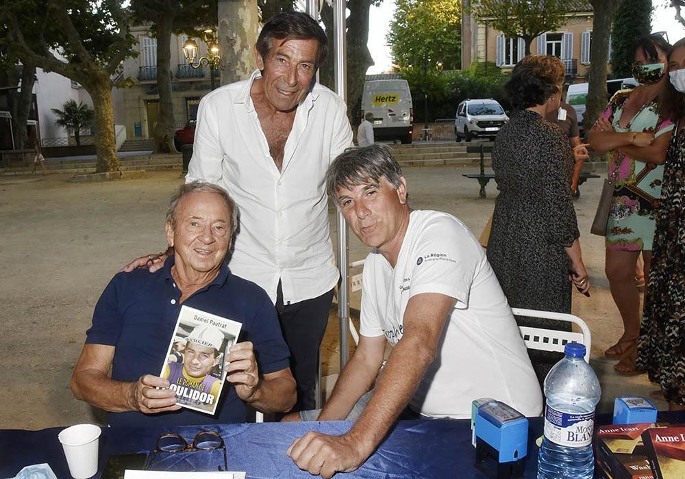 Pierre Defendini des Nocturnes Litteraires, Daniel Pautrat et Tex Voilà 3hommes sur un tamdem