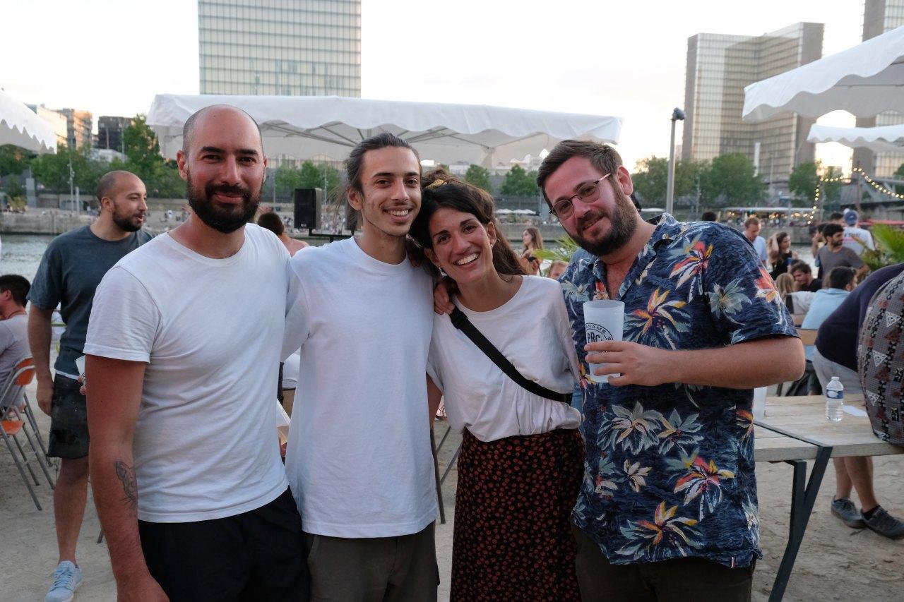 La team de Cargo : Karim, Quentin, Nina et Felicien.