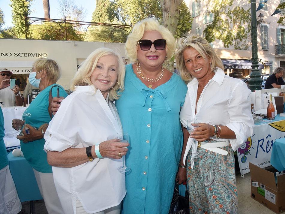 Michele Torr, Zize et Caroline Margeridon mousquetairent pour lassoc Turquoise