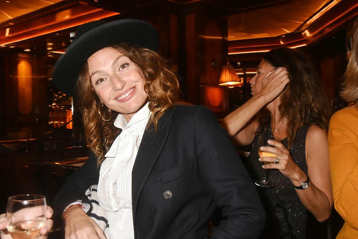 Aurelie Saada Brigitte en women in black with hat