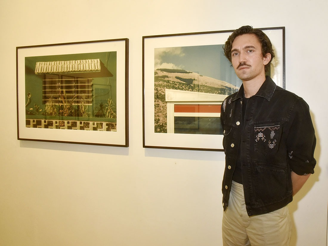 Romain Laprade avec d'autres tirages Canons polarisés mais pas polaroids