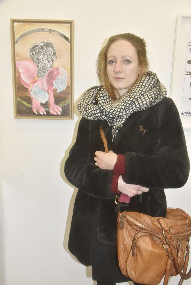 Teresa Lochmann a mis un peu de couleur dans la noirceur de sa peinture