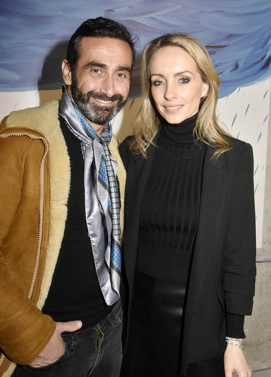 Olivier Benkemoun and Anne Seften en plein tapissage
