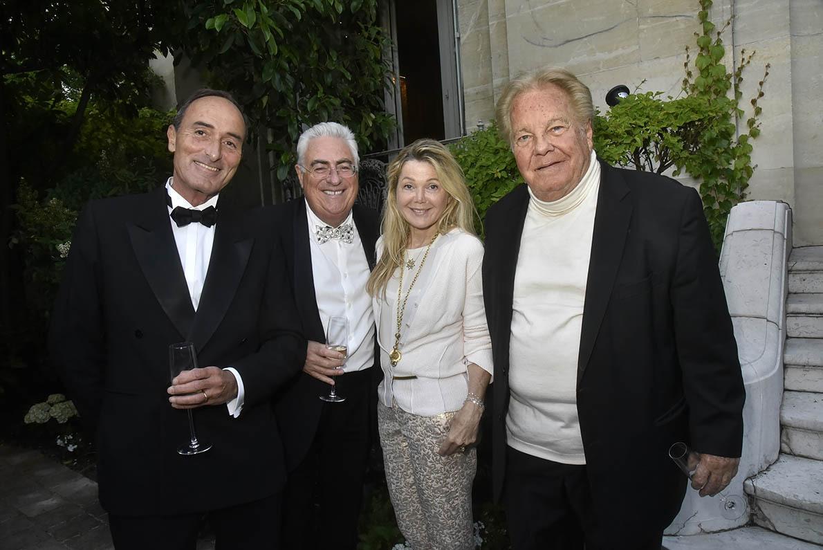 Herve Michel Danzac Jean Michel Aubrun,  Sonia Poniatowski and Massimo Gargia on se croirait à garden party des Bests