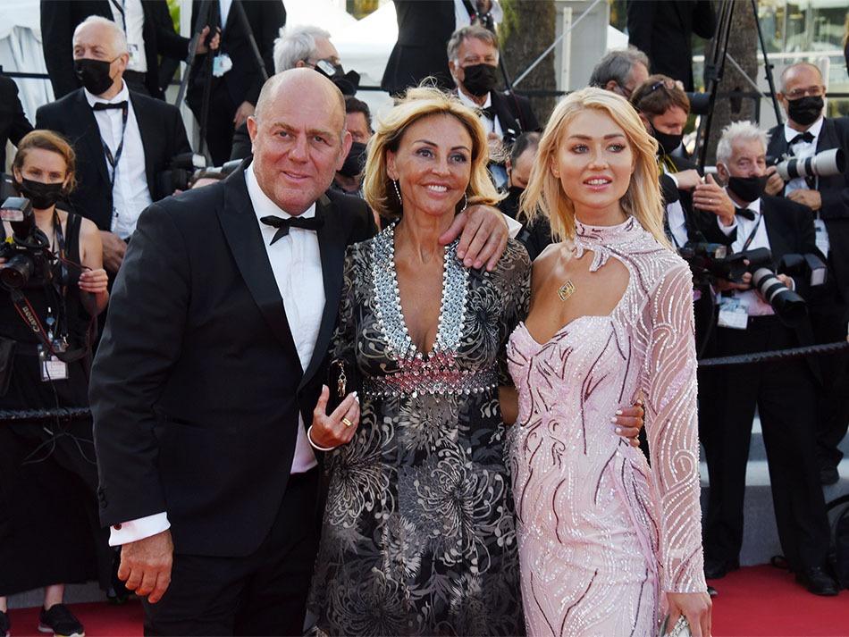 Francesco Maio de chez Forbes avec Marie Chretien Franceschini et Angelina Kali