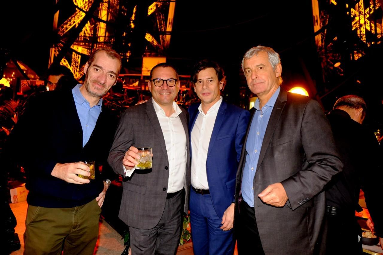 Emmanuel Vouin, Bruno Goimier, Pierre Therel et Christian Fiatte