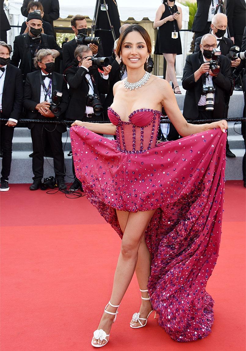 Patricia sur le tapis rouge dansotte la Contreras