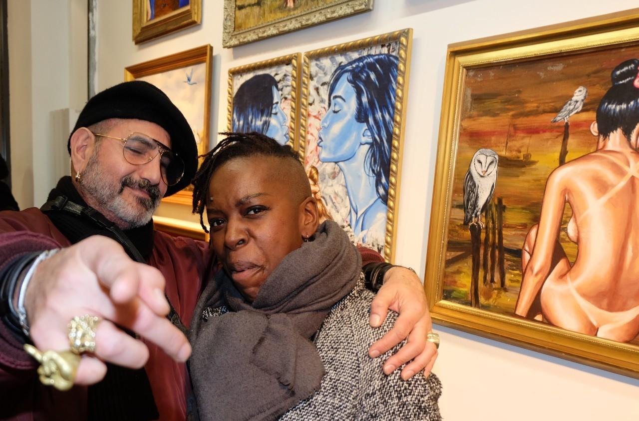 Claude Sabbah et Miss Ebengué