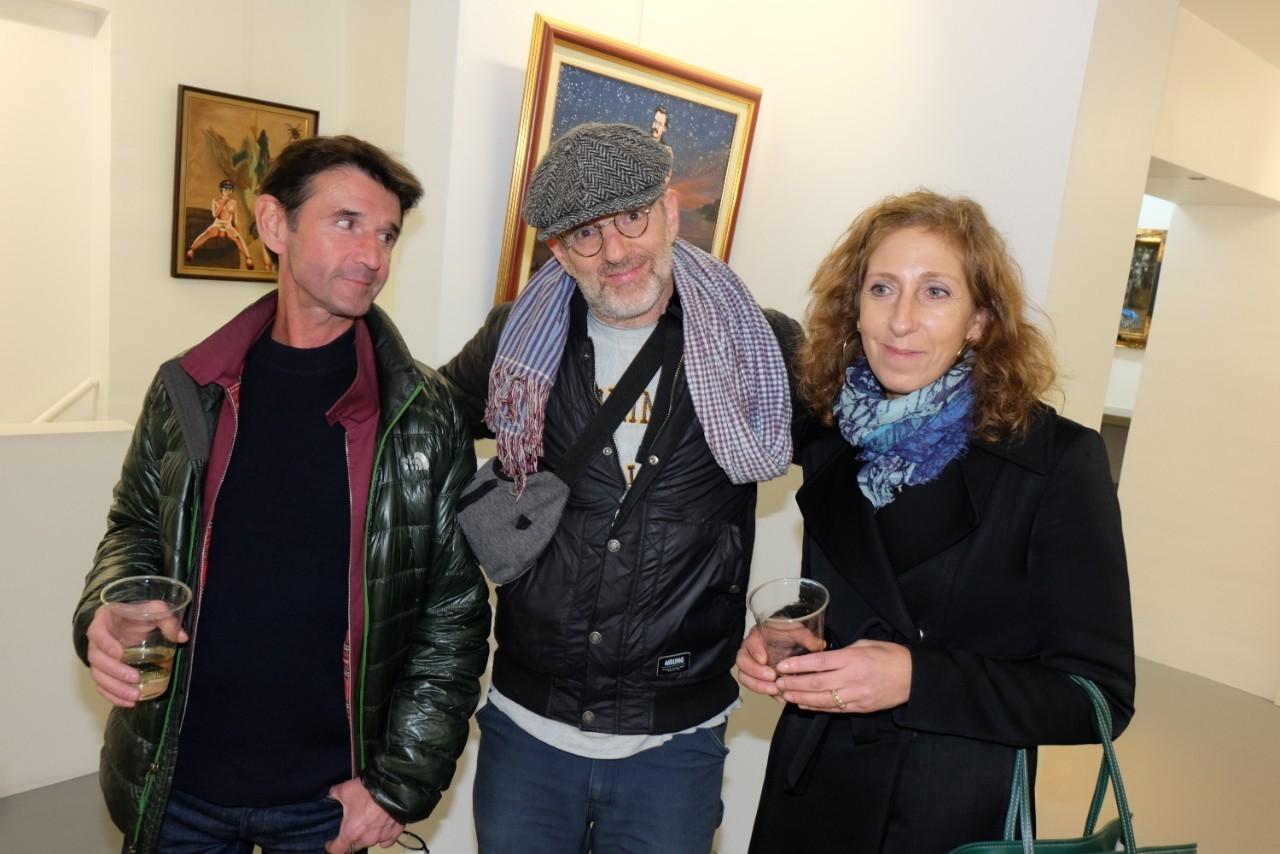 David , Sophie et un ami