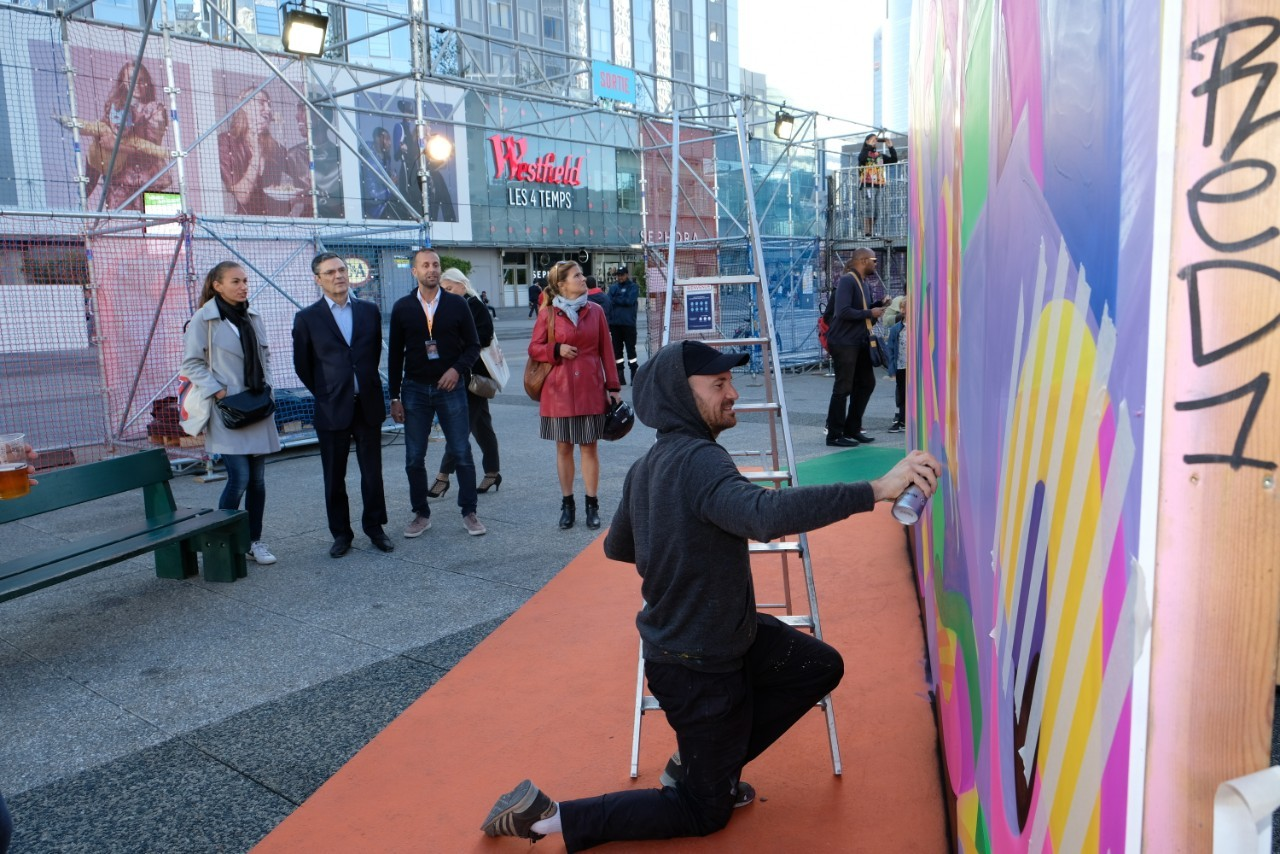 Patrick Devedjian et  Marie Celine Guillaume inaugurent l'expo Underground Effect