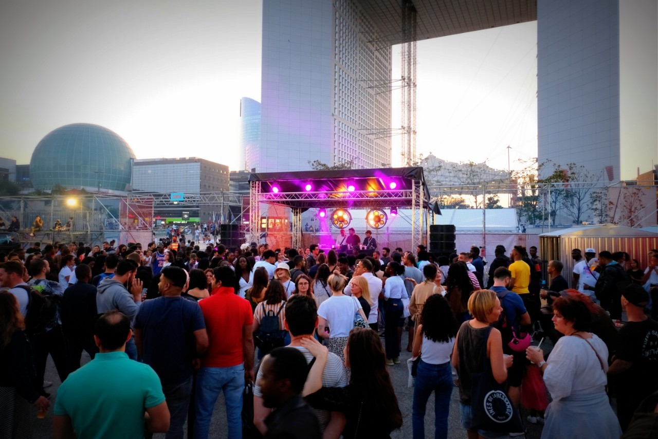 Ambiance sunset party a l'Urban Week