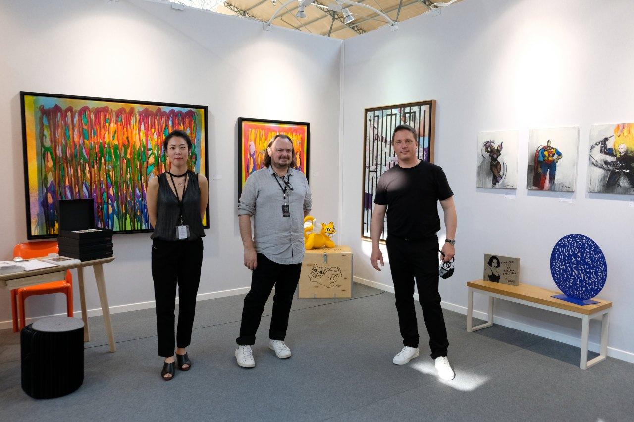 Siri, Eric et Laurent de la galerie Brugier Rigail