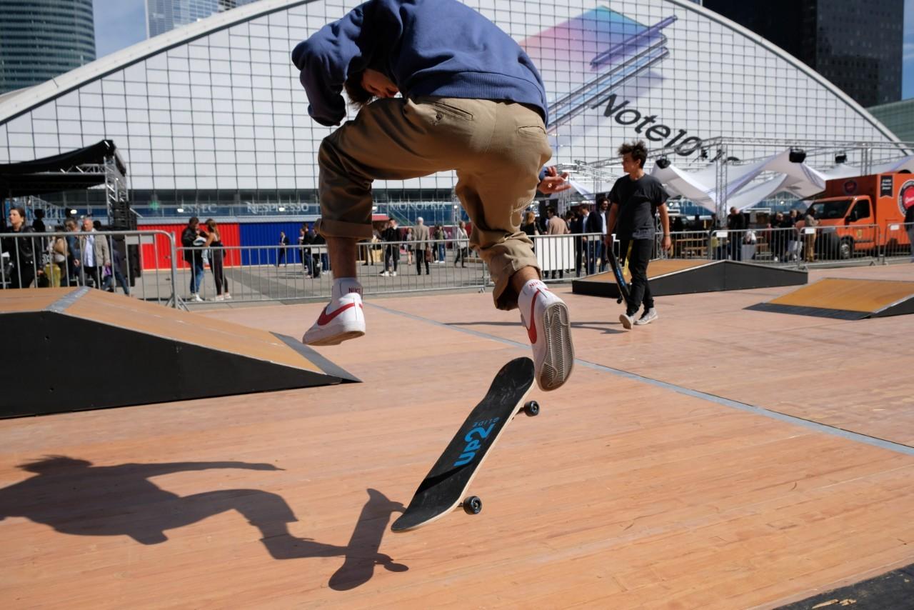 Un Skate Park a été monté afin d'initier les  kids aux joies  du Ollie.