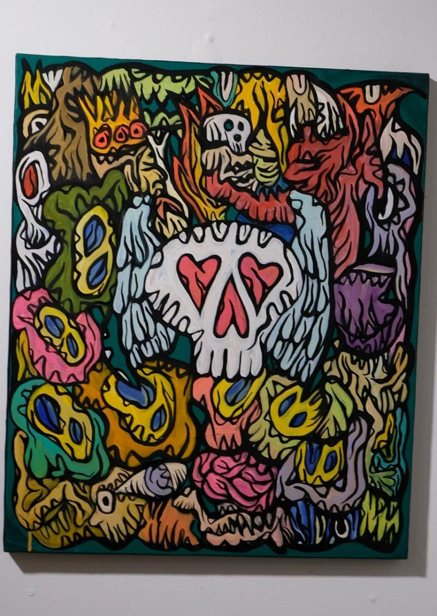 Détail d une des nouvelles peinture de l expo