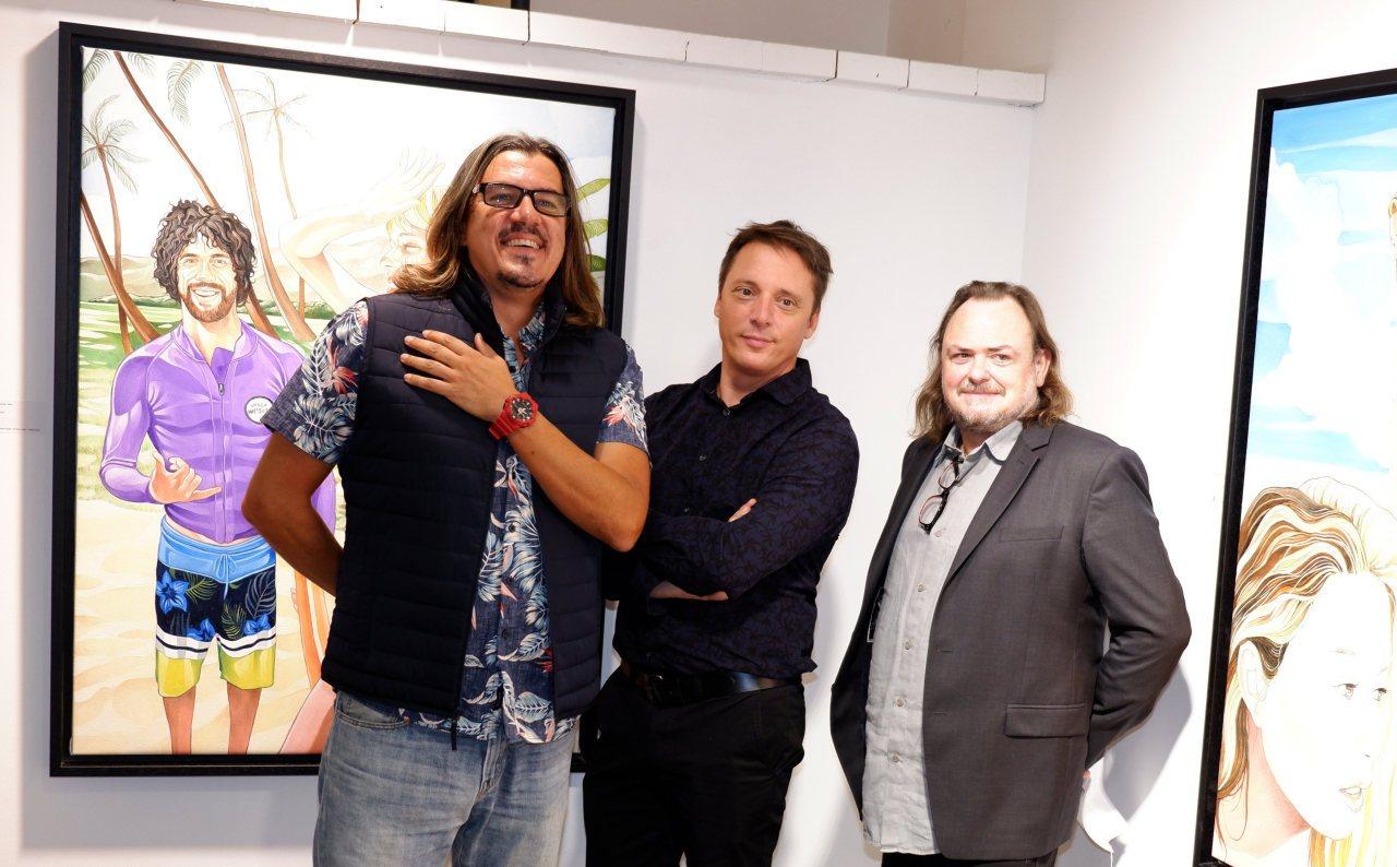 Kosta avec Laurent Rigail et Eric Brugier