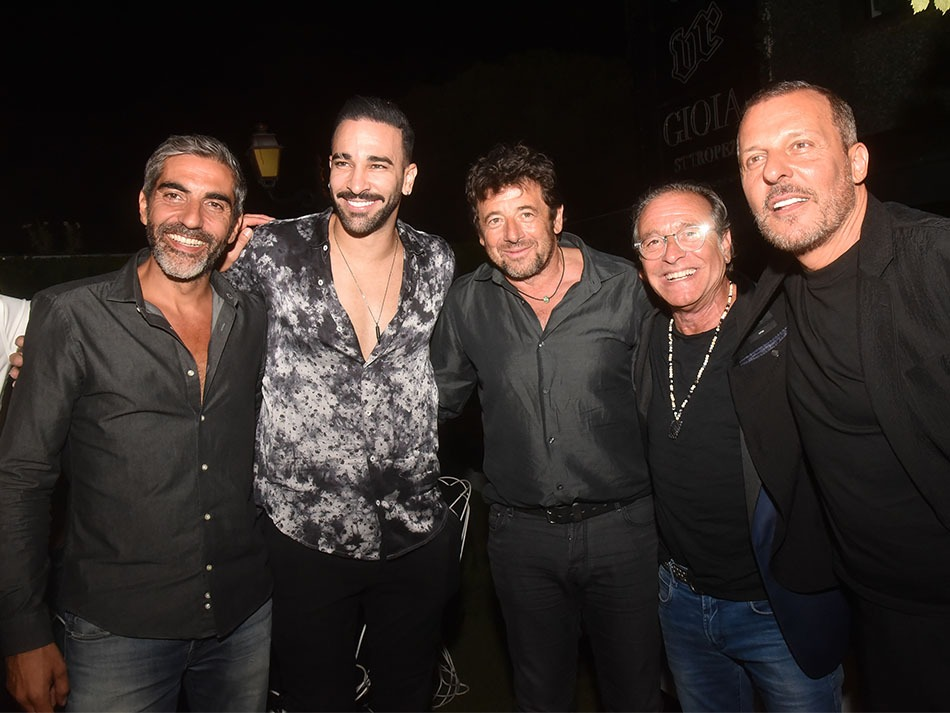 Ary Bittan, Adil  Rami, Patrick Bruel, Felix Gray et Jean Roch La crème de La crème est ce  soir au VIP Room Saint Tropez