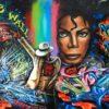 Mickael jackson graff wall