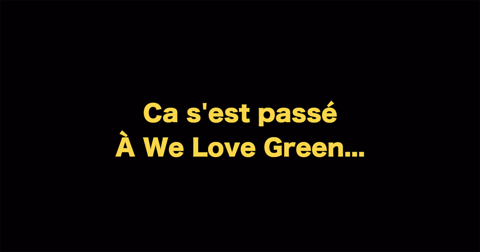 we love green jack lang festival