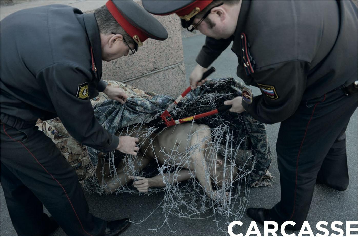 Piotr Pavlenski Carcasse Barbelé Technikart